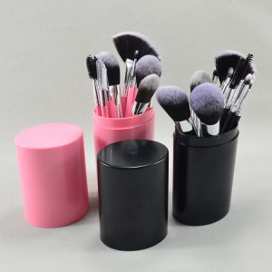 12pcs makeup brush full set with Round Box