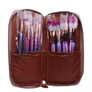 Fashion 10 pcs sea-maid makeup brush with Bag