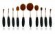 10pcs Rose Golden Makeup brush Kit