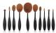 10pcs toothbrush shape Makeup brush Kit