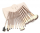 12 18 24pcs wooden handle Cosmetic Brush Sets